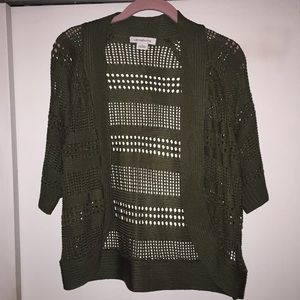 Large Liz Claiborne sweater cardigan